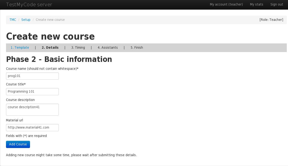 TMC user manual - teacher